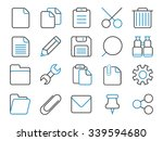 application toolbar and copy... | Shutterstock .eps vector #339594680