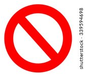 prohibition  forbidden  no sign ... | Shutterstock .eps vector #339594698