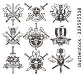 Viking Logos Set In Vintage...
