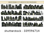 sketch big city architecture... | Shutterstock .eps vector #339596714