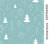 winter forest background.... | Shutterstock .eps vector #339596900
