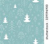 winter forest background.... | Shutterstock .eps vector #339596900