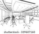 outline sketch drawing... | Shutterstock .eps vector #339607160