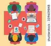 teamwork  brainstorming concept.... | Shutterstock . vector #339609848