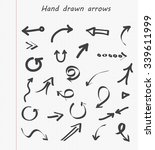 hand drawn arrows.doodle arrows ... | Shutterstock .eps vector #339611999