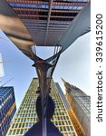 Small photo of Chicago - September 6, 2015: Untitled massive sculpture in a plaza in downtown Chicago by Picasso.