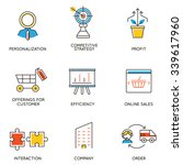 vector set of icons related to... | Shutterstock .eps vector #339617960