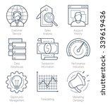 crm or customer relationship...   Shutterstock .eps vector #339619436