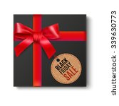 black gift box top view with... | Shutterstock . vector #339630773
