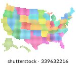 map of the united states vector ... | Shutterstock .eps vector #339632216
