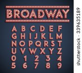 font with lamps  vector   Shutterstock .eps vector #339635189