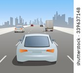 motor vehicles driving on urban ... | Shutterstock .eps vector #339637148
