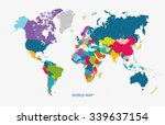 world map illustration vector | Shutterstock .eps vector #339637154