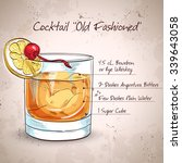 old fashioned cocktail ... | Shutterstock .eps vector #339643058