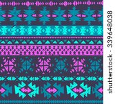 neon color tribal navajo... | Shutterstock .eps vector #339648038