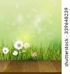 Vector Green Grass  Field With...