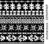 black and white tribal navajo... | Shutterstock .eps vector #339649469