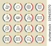 community. social media icons... | Shutterstock .eps vector #339653570