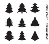 christmas fir tree of an icon   Shutterstock .eps vector #339657080