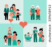 family figures icons set of... | Shutterstock .eps vector #339658913