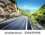 an highway in mountain | Shutterstock . vector #339659498