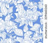 seamless flower background  ... | Shutterstock .eps vector #339660260