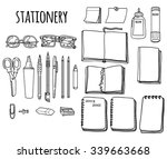 isolated set of stationery ... | Shutterstock .eps vector #339663668