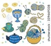 i love knitting  fun colored... | Shutterstock .eps vector #339669338