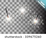 Christmas Sparkler Set. Vector...