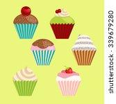 set of vector cartoon style... | Shutterstock .eps vector #339679280
