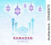 traditional lantern of ramadan  ... | Shutterstock . vector #339680870