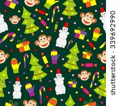 seamless pattern with decorated ... | Shutterstock .eps vector #339692990