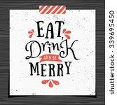 christmas typographic design... | Shutterstock .eps vector #339695450