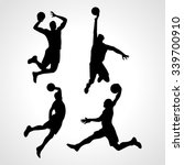 basketball players collection... | Shutterstock .eps vector #339700910