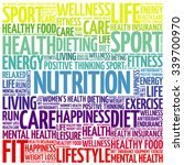 nutrition word cloud background ... | Shutterstock .eps vector #339700970