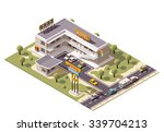 vector isometric icon or... | Shutterstock .eps vector #339704213