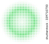 Abstract Halftone Green And...