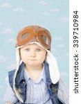 sweet little baby dreaming of... | Shutterstock . vector #339710984