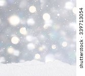 mounds of snow on a silver... | Shutterstock . vector #339713054