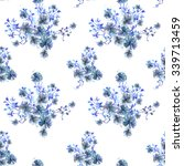 seamless pattern with bouquets... | Shutterstock . vector #339713459