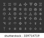 set of geometric shapes. trendy ... | Shutterstock .eps vector #339714719
