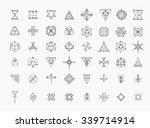 set of geometric shapes. trendy ... | Shutterstock .eps vector #339714914