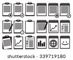 set of clipboard and spiral... | Shutterstock .eps vector #339719180