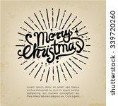 merry christmas hand lettering  ... | Shutterstock .eps vector #339720260