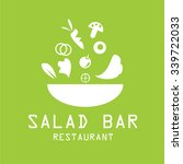 bowl of salad icon logo.vector  | Shutterstock .eps vector #339722033