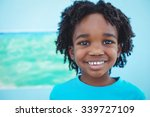 happy kid enjoying arts and... | Shutterstock . vector #339727109