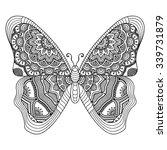 Butterfly. Vintage Decorative...