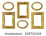 the antique gold frame on the... | Shutterstock . vector #339732143