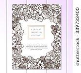 vintage delicate invitation... | Shutterstock .eps vector #339733400