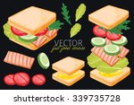 sandwich and special foods for... | Shutterstock .eps vector #339735728